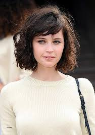lady neck hair neck length curly hairstyles fresh medium lenght messy hairstyle