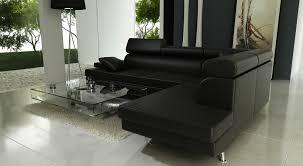 salon avec canapé noir peindre du simili cuir unique salon avec canape noir yantown com