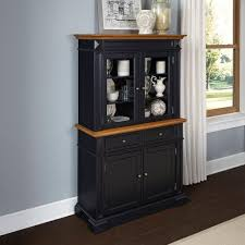 sideboards buffets kitchen dining room furniture the home americana black and oak buffet with hutch