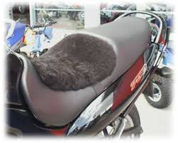 sheepy hollow sheepskin seat covers for motorcycles seat pads