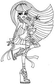 fashion model coloring pages monster high cleo de nile colouring bratz monster high moxie