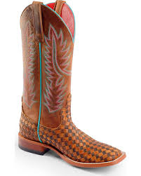 Amazon Com Macie Bean Women U0027s Unbeweavable Cowgirl Boot Square
