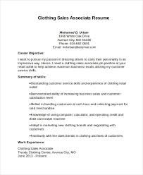 sales associate resume clothing sales associate resume resume cover letter