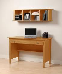 natural mahogany computer table mixed wall mounted bookcase simple