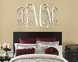 initial home decor wooden monogram unpainted vine script monogram home decor wedding
