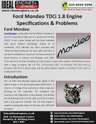ford focus tdci problems ford mondeo 1 8 tdci engine specifications problems