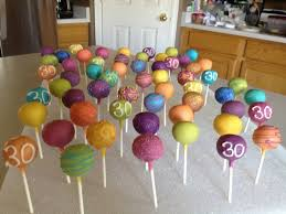 30th birthday cake pops