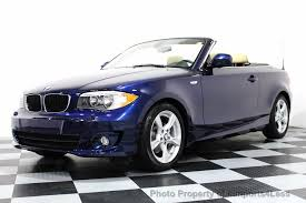 bmw series 5 convertible 2013 used bmw 1 series certified 128i convertible premium