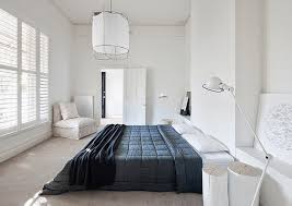Jielde Floor L Black And White Bedroom With A Floor L From Jieldé Via