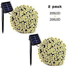Patio Lawn And Garden Amazon Com Binval Solar Christmas String Lights For Outdoor
