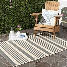 Safavieh Indoor Outdoor Rugs Safavieh Courtyard Collection Cy6062 236 Grey And Bone