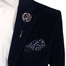 lapel flower brown and white piped velvet lapel flower pin by the accessorized