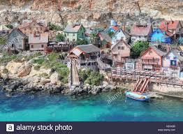 popeye village popeye village anchor bay malta stock photo royalty free image