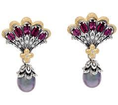 earrings images barbara bixby sterling 18k cultured pearl mermaid earrings