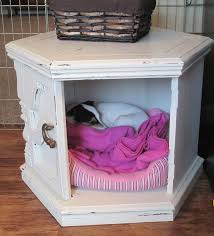 side table dog bed hide out made with diy chalk paint home