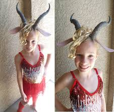 madam gazelle costume dress horned headband with ears red