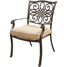 Cushioned Chairs Hanover Traditions 7 Piece Deep Cushioned Outdoor Dining Set