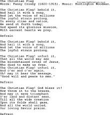 Christian Flag Images The Christian Flag By Crosby Hymn Lyrics