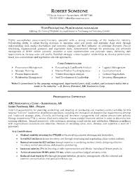 Sample Procurement Resume by Procurement Manager Resume Format Free Resume Example And