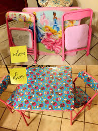Folding Table And Chair Set For Toddlers Diy Kid U0027s Folding Table Redo Folding Tables Kids S And Tutorials