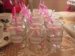 tea cup decoration ideas with little pink tea cups with white