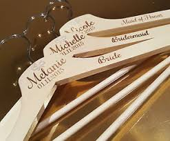 Engraved Wedding Gifts 4x Personalised Engraved Bridal Shower Wooden Coathanger