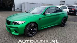 matte bmw bmw m2 spotted with matte green wrap in netherlands