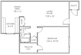 one bedroom house plan one bedroom apartment floor plans