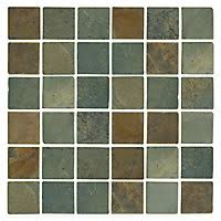 Tumbled Slate Backsplash by Slate Tile Mosaic Tile The Tile Shop
