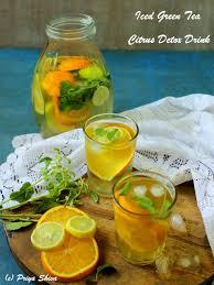 iced green tea u2013 citrus detox drink
