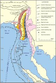 Map Of The Strip Regional Setting And Location Map Of Pondaung Area Myanmar