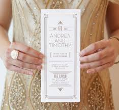 Wedding Invitations Montreal Gatsby Our 1920 U0027s Inspired Letter Pressed Wedding Invitation