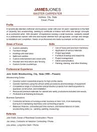 Seamstress Resume Carpenter Resume Example Woodworker