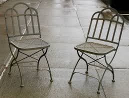 Metal Garden Chairs Vintage Heavy French Steel Folding Garden Chairs At 1stdibs