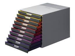 bloc tiroir pour bureau durable varicolor 10 bloc de classement à tiroirs modules de