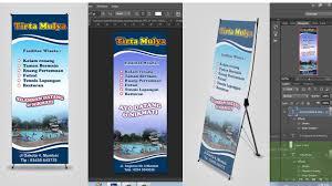 cara membuat desain x banner di photoshop cara menyeting ukuran x banner dengan photoshop youtube