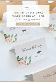 how to print your own place cards u2014 everly paper