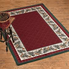 evergreen burgundy rug collection