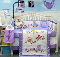 Owl Nursery Bedding Sets by Purple Owl Crib Bedding Decorate My House