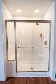 walk in shower all glass shower doorless shower universal
