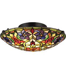 Quoizel Flush Mount Ceiling Light Quoizel Tfvt1617vb Violets 2 Light 16 Inch Vintage Bronze Flush