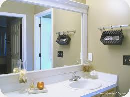 How To Frame Bathroom Mirror Attractive Diy Frame Bathroom Mirror Bathroom Design Ideas