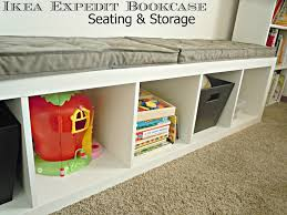 Cubby Bench Ikea Bench Ikea Bookcase Bench Recycled Old Expedit Shelf Into A