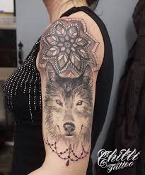 50 make a powerful style statement with wolf tattoos ideas