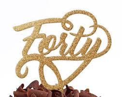 40 cake topper hello 40 cake topper 40th birthday cake topper forty cake