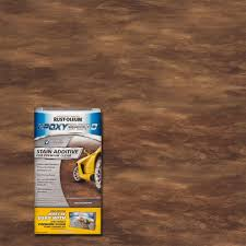 rust oleum epoxyshield 8 oz stain effect rustic brown additive
