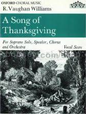 ralph vaughan williams a song of thanksgiving vocal score
