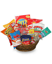 snack basket salty snacks basket gift basket gift baskets flower shop network