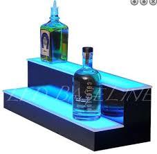 led lighted bar shelves led lighted bar shelf 2 step 32 free ship in stock ledbaseline