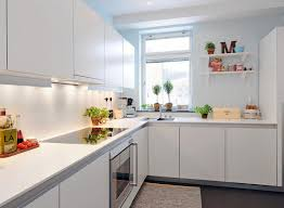 Small White Kitchen Designs Amazing White Kitchen Interior In Small Apartment With Modern